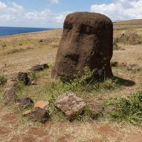 Broken Moai at the Ahu at Vinapu